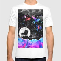 Magical Pegasus Mens Fitted Tee White SMALL