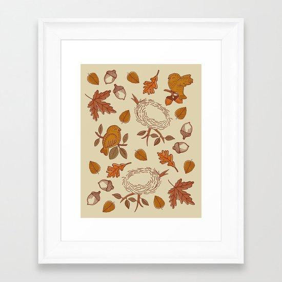 Fly Away Fall Framed Art Print