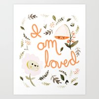 I Am Loved Botanical Pri… Art Print