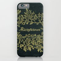 iPhone & iPod Case featuring Microfarmer - Gold by fluffco