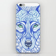 ice wolf iPhone & iPod Skin