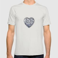 Diamond Love Mens Fitted Tee Silver SMALL
