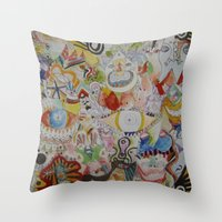 Super Skribb Throw Pillow