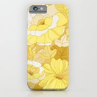 Retro floral sheets yellows iPhone 6 Slim Case