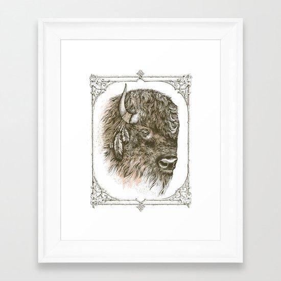 Portrait of a Buffalo Framed Art Print