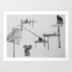 Let Them Sit Where We Place The Seat II Art Print