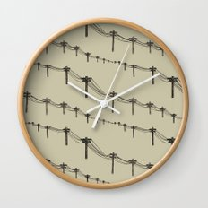 Metal Trees Wall Clock