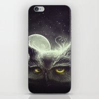 Owl & The Moon iPhone & iPod Skin
