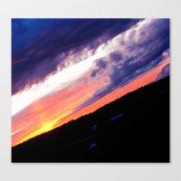 Swedish midsummer sky Canvas Print