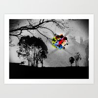 Clusters on mind #2 Art Print