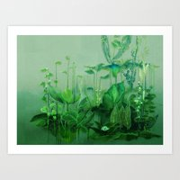 Travelling Plants 1+2 Art Print