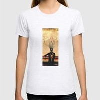 MIND on FIRE Womens Fitted Tee Ash Grey SMALL