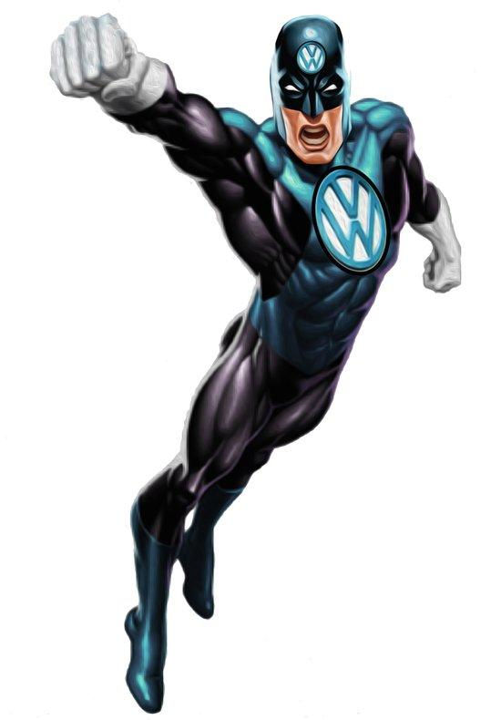 VW Super Hero Art Print