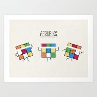 Aerubiks Art Print