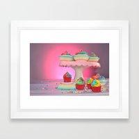 cupcakes in studio Framed Art Print