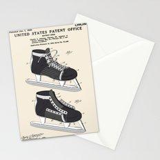 Hockey Skate Patent Stationery Cards