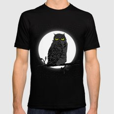Night Owl V. 2 Black SMALL Mens Fitted Tee