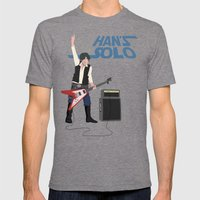 Han's Solo Mens Fitted Tee Tri-Grey SMALL