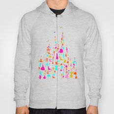 multicolored character castle Hoody