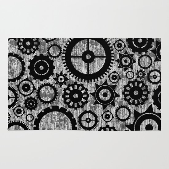 Grunge Cogs. Area & Throw Rug