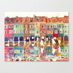Evening in Poznań Canvas Print