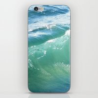 Teal Surf iPhone & iPod Skin