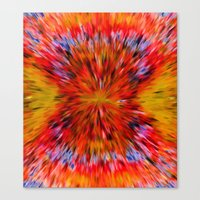 Splattered 60's - Painting Style Canvas Print