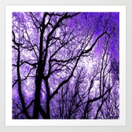 The Trees Know (purple) Art Print