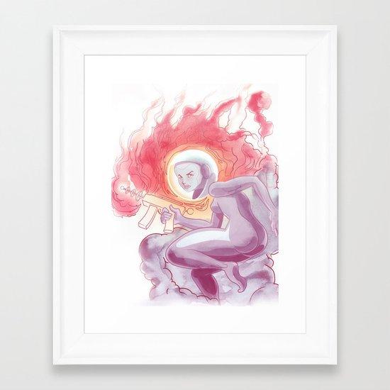Somewhere in Space Framed Art Print