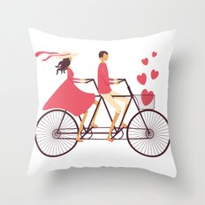 Love Couple Throw Pillow