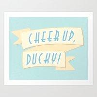 Cheer Up, Ducky Art Print