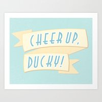 Cheer Up, Ducky Art Print