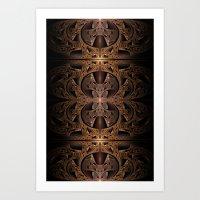 Steampunk Engine Abstract Fractal Art Art Print