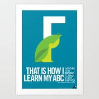 Animal Alphabet F Art Print