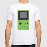 GAMEBOY Color - Green Mens Fitted Tee Ash Grey SMALL