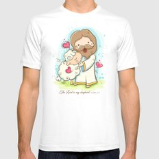 Lord is my shepherd Mens Fitted Tee White SMALL