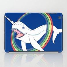 Cute Horn Narwhal With Rainbow Cartoon iPad Case