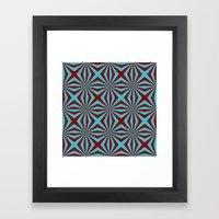 Sunbeams In Turquoise An… Framed Art Print