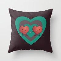 Heart 2 Heart Throw Pillow