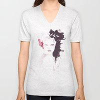 Fashion illustration in watercolors Unisex V-Neck