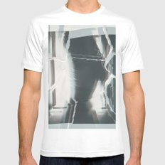 Broken window 2 SMALL Mens Fitted Tee White