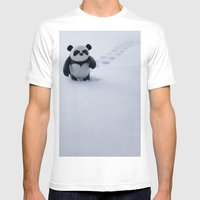 Zeke the Zen Panda Mens Fitted Tee White SMALL