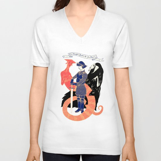 The Knight, Death, & the Devil V-neck T-shirt