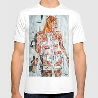 LEELOO THE FIFTH ELEMENT Mens Fitted Tee White SMALL