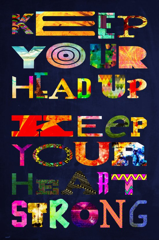 Keep your head up Art Print