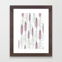 Flowery Pods Framed Art Print