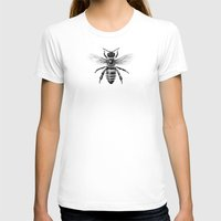 bee T-shirts featuring Bee by Paper Skull Studios