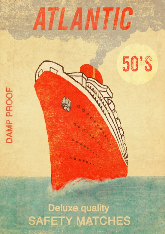 Atlantic Safety Matches  Art Print