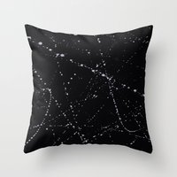Dazed + Confused [Black] Throw Pillow