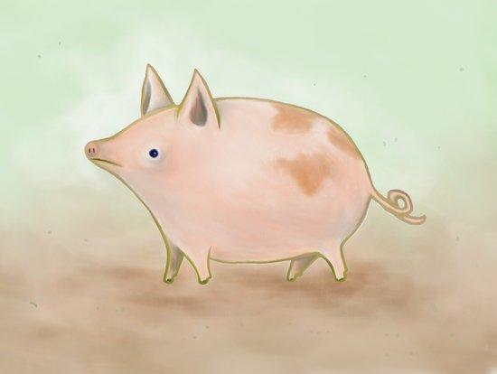 Piggy Art Print